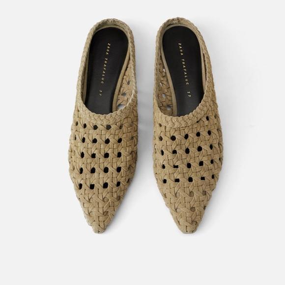 Zara Shoes | Zara Split Leather Woven